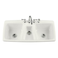 Drop-In Triple Bowl Kitchen Sinks