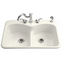 Drop-In Double Bowl Kitchen Sinks